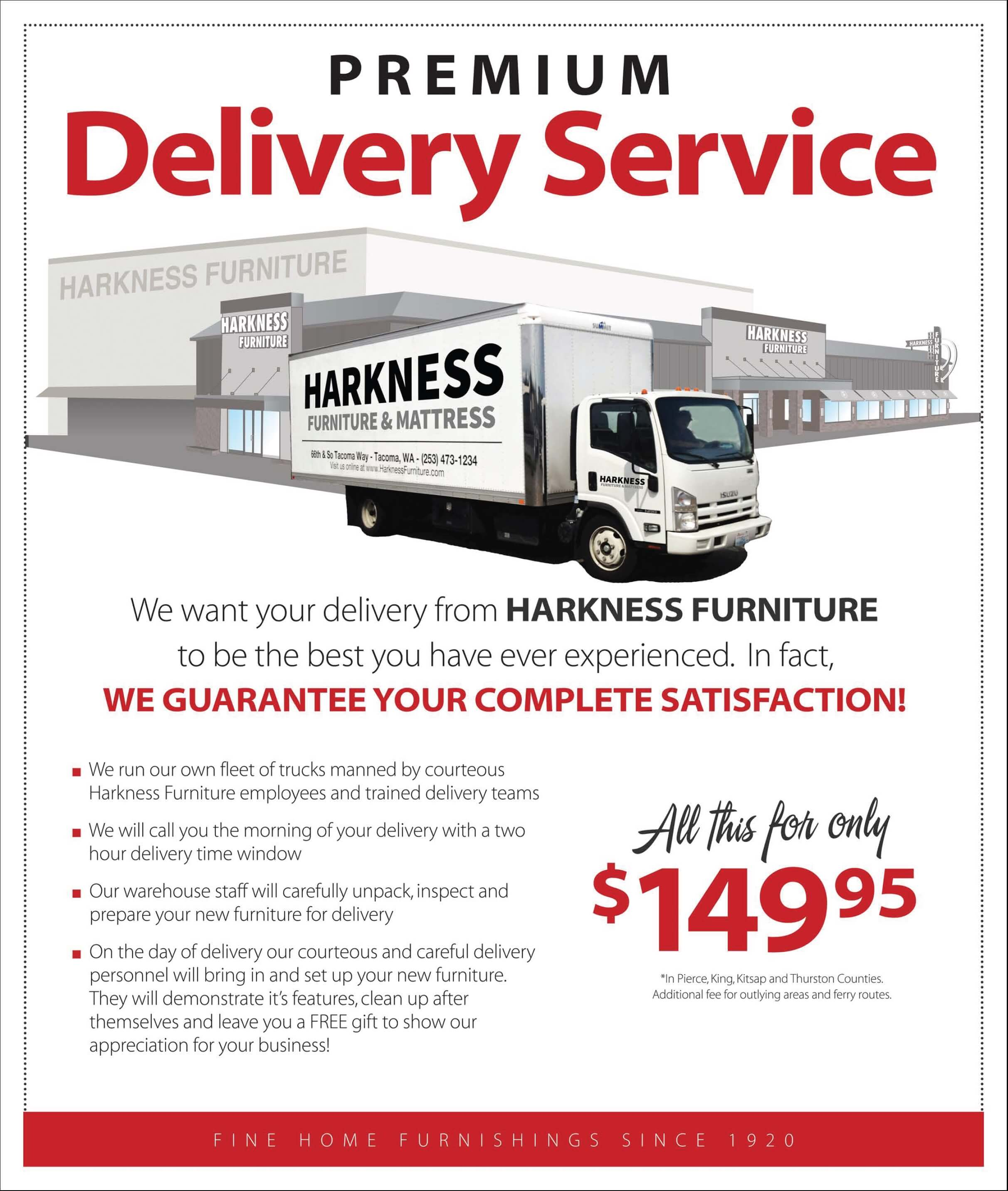 delivery options | harkness furniture